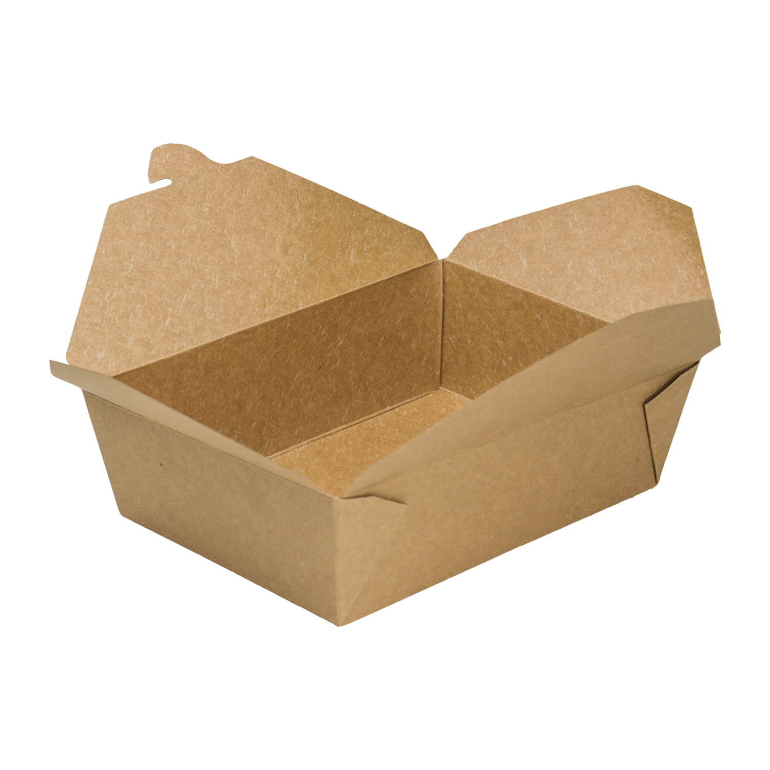 "Fold-To-Go container #3, Size: 7.8""x5.5""x2.4"", Color: Natural, Capacity: 76 fl oz., 200/cs"