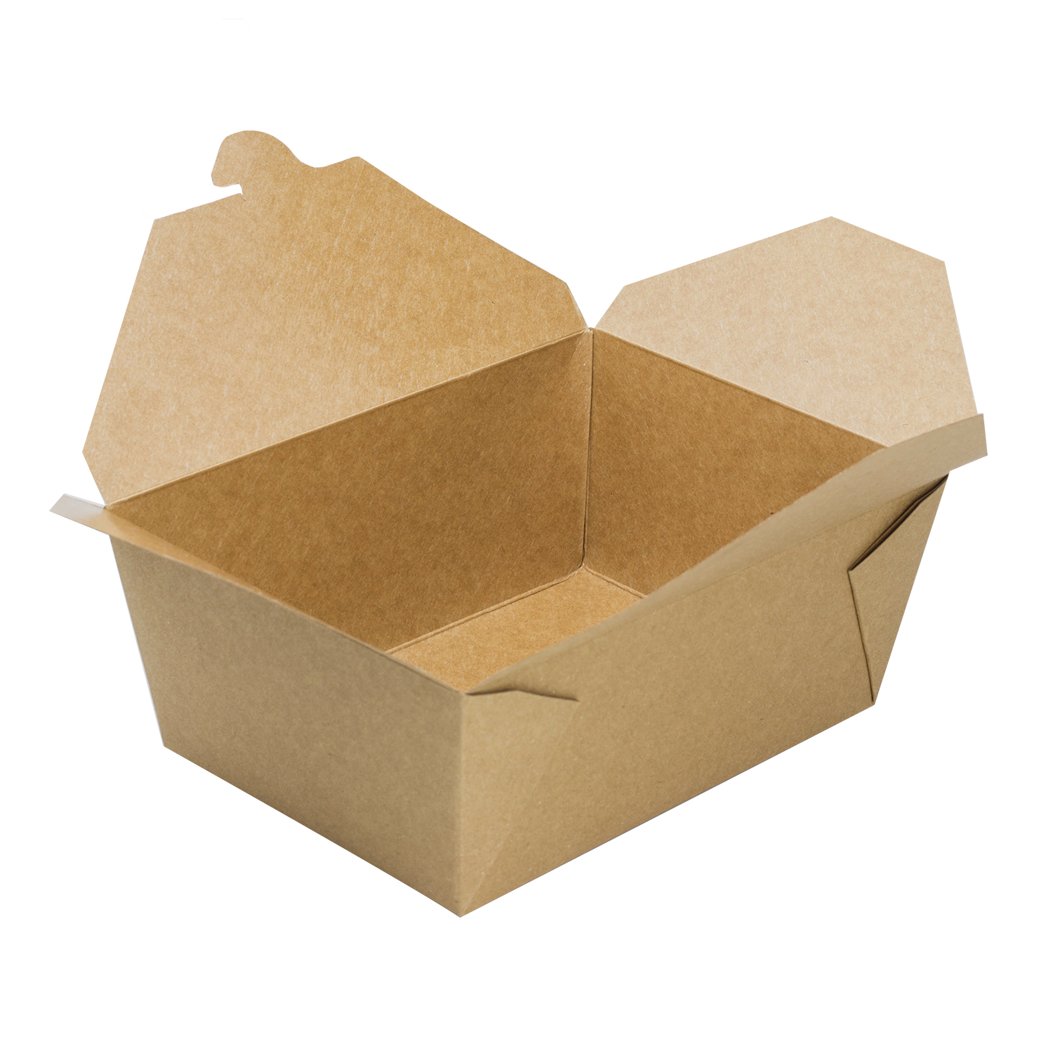"Fold-To-Go container #4, Size: 7.75""x5.5""x3.5"", Color: Natural, Capacity: 96 fl oz., 160/cs"