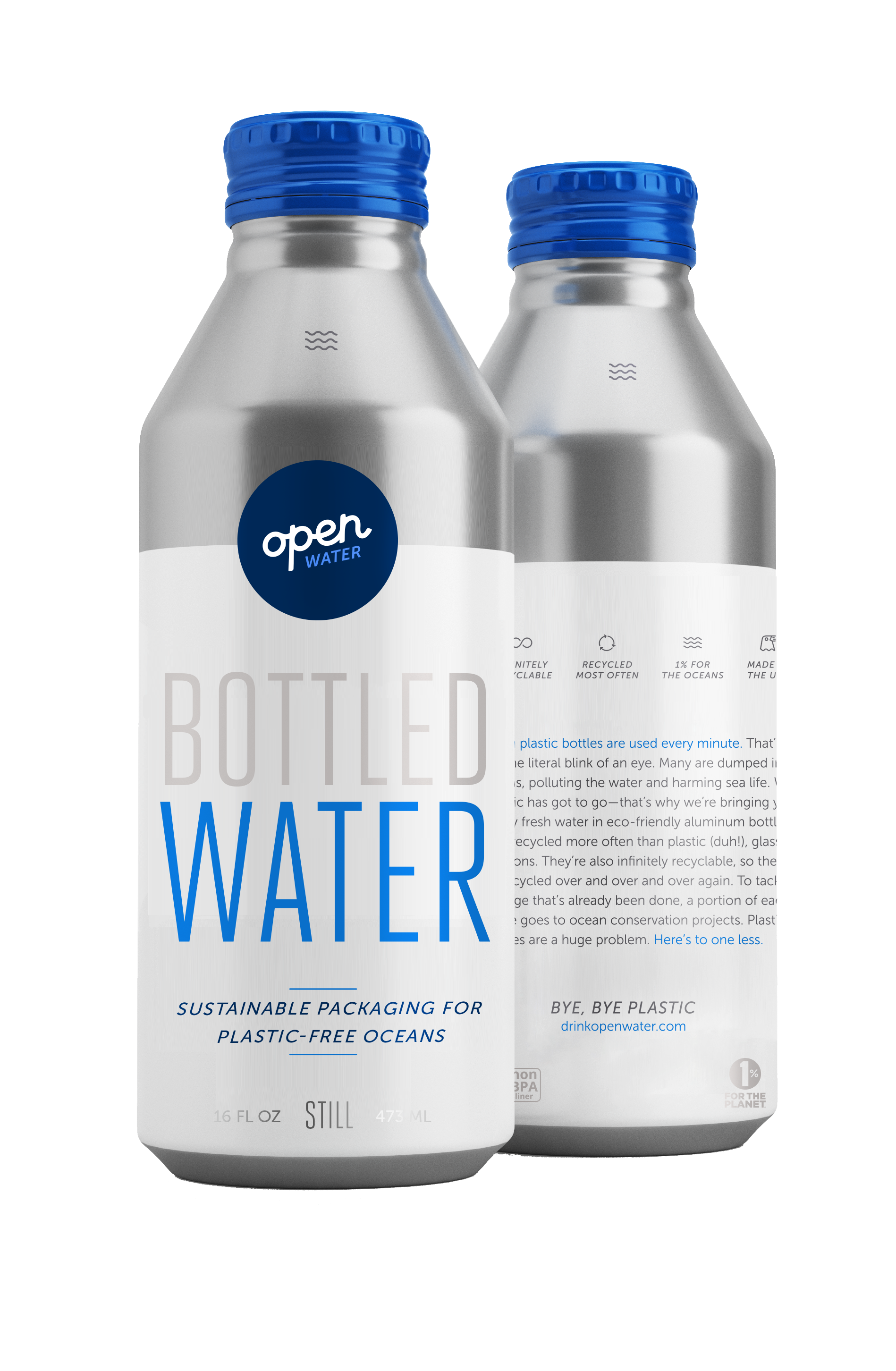 16 oz Still Water Aluminum Bottle