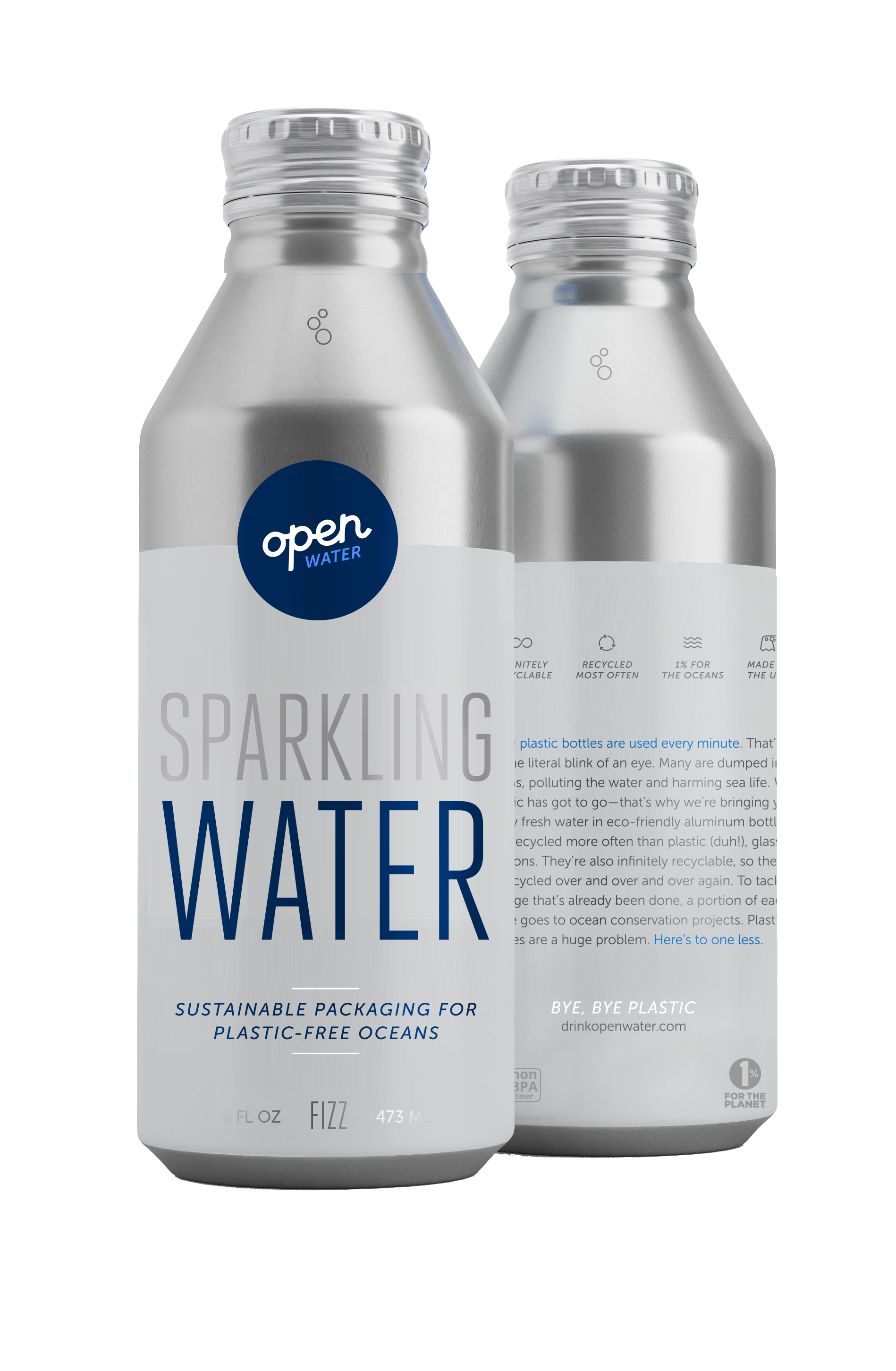16 oz Sparkling Water Aluminum Bottle