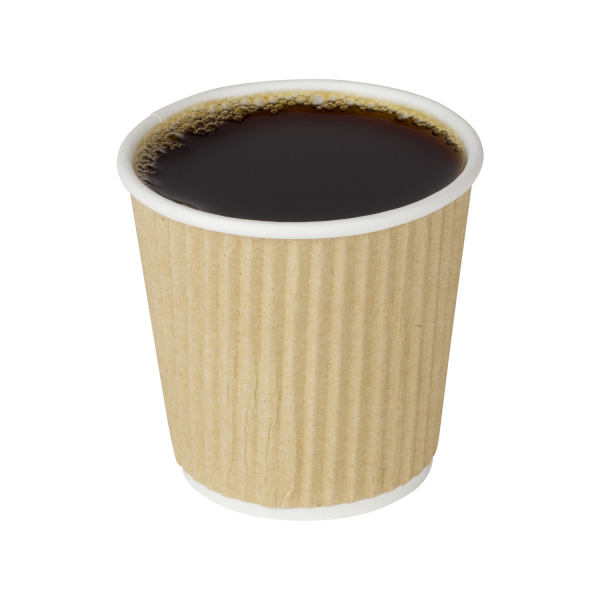 4 oz ripple hot cup, Color: Kraft, 500/cs