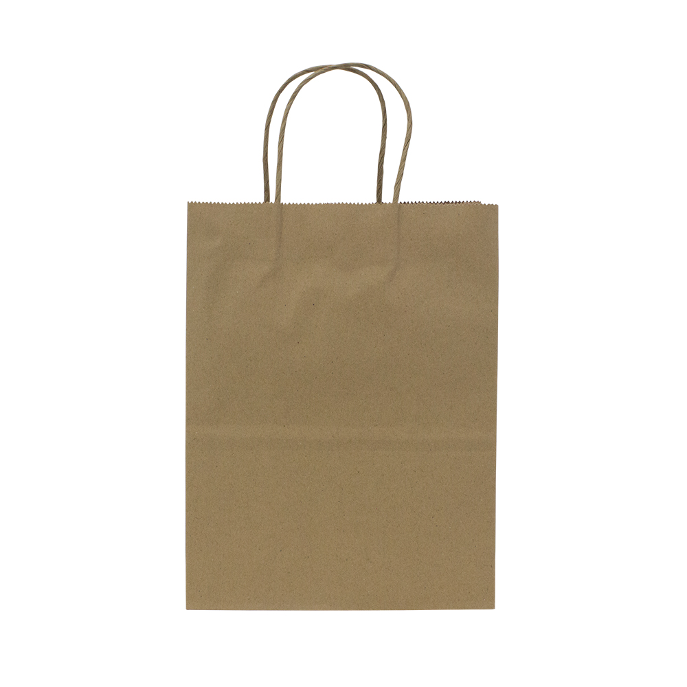 Paper Bag with Handles, Size: 8.1x4.5x10.6, Color: Natural, 250/cs