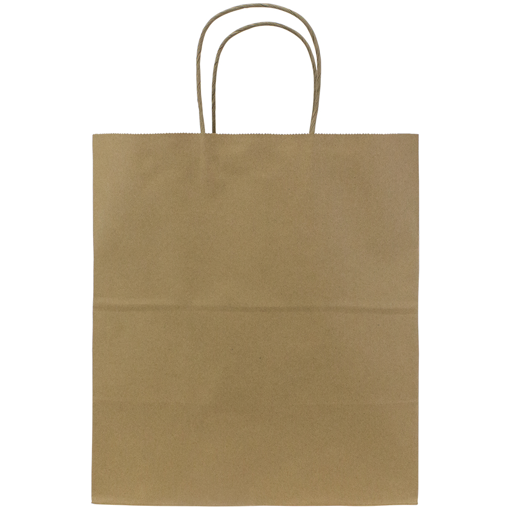 Paper Bag with Handles, Size: 12.2x7.5x14, Color: Natural, 250/cs