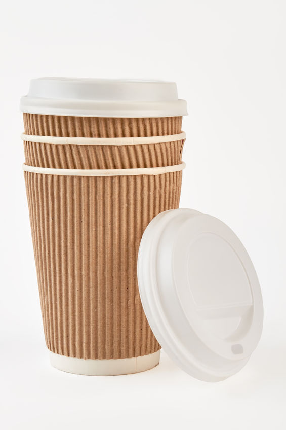12 oz ripple hot cup, Color: Kraft, 500/cs