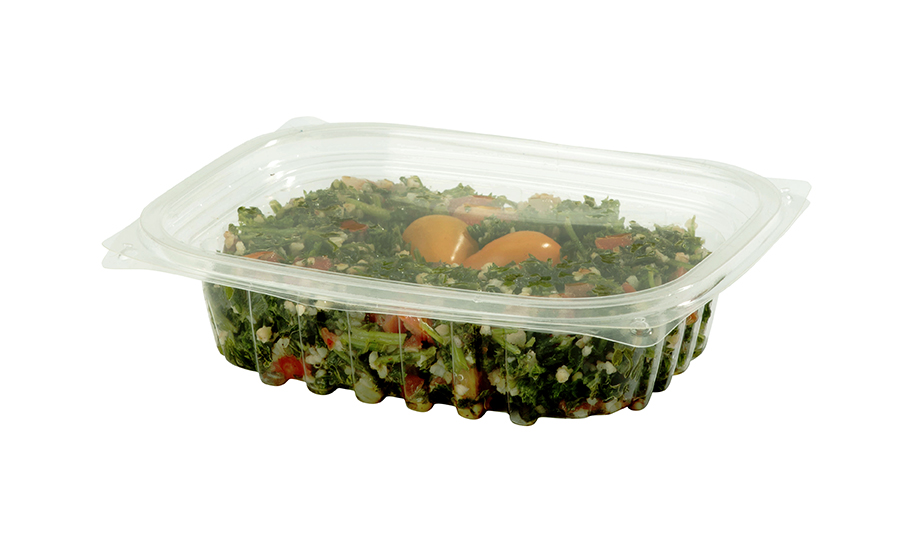 Lid for 8 - 16 oz Rectangular Deli Containers, Color: Clear, Material: PLA, Compostable, 900/cs