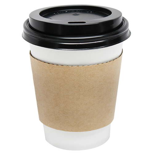 Cup Jacket / Sleeve, Color: Natural, Fits 8 oz Cups, 1000/Cs