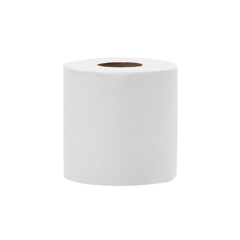 "Bathroom Tissue, 2-ply, Color: white, Sheet Size: 4.4""x3.5"", 500 sheets/roll; 5134 sq ft/cs; 100% Recycled Paper, Average 45% Post Consumer Recycled Content, Green Seal Certified, 96 rolls/cs"