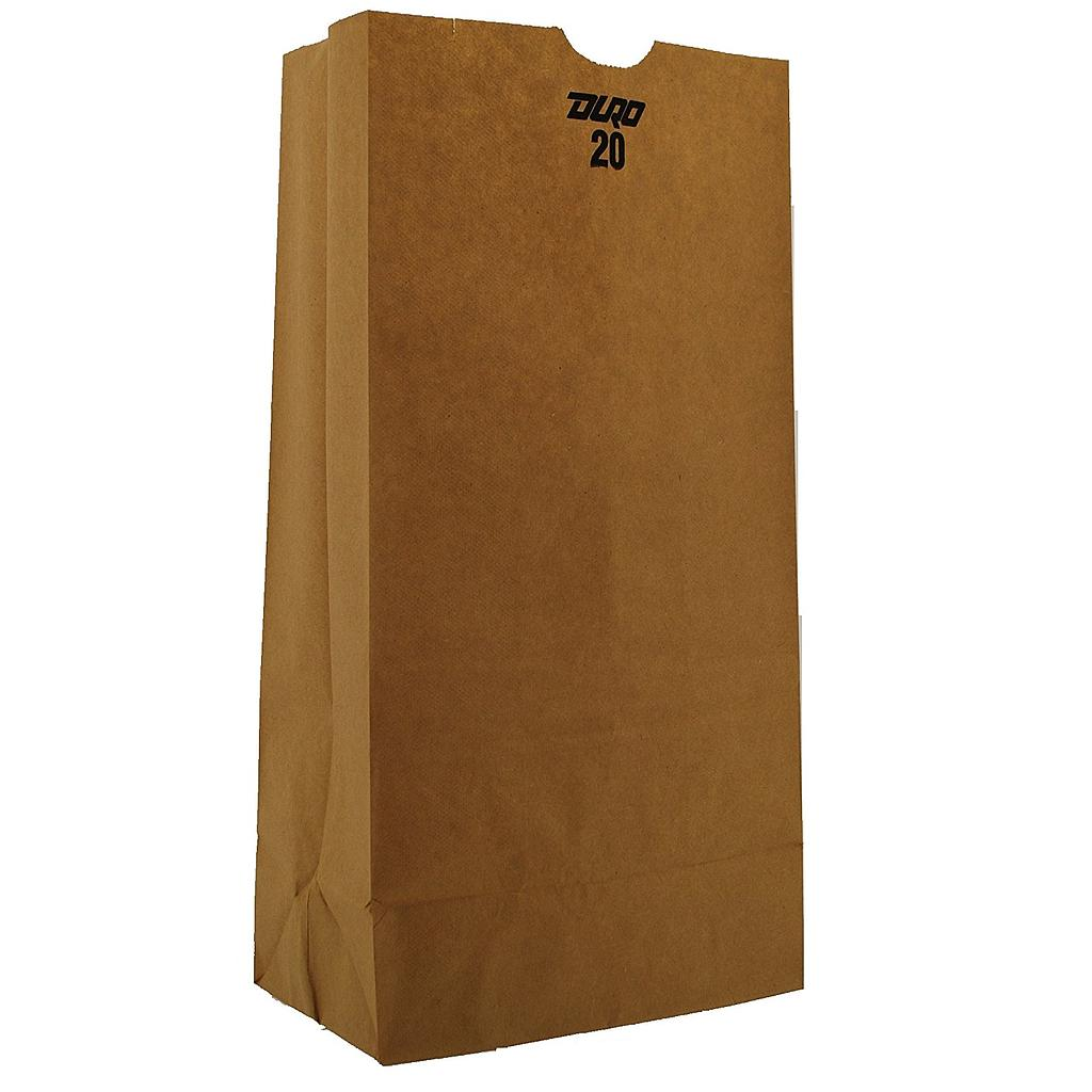 20# Tall Grocery Paper Bag, Size: 8.25x5.30x16.12, Color: Natural, 500/cs