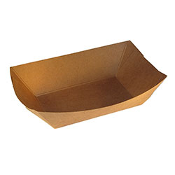 "*SPECIAL ORDER ITEM* Food Tray, Capacity: 2.5 lb, Size: 7.25""x5.25""x1.88"", Material: Uncoated Paper, Color: Kraft, Compostable, 500/cs *ESTIMATED DELIVERY 4 TO 6 WEEKS* (NOT RETURNABLE)"