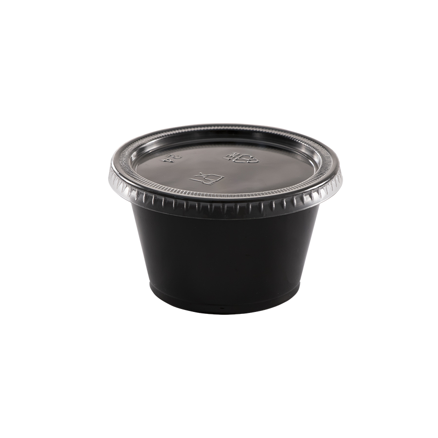 Lid for 1, 1.5 & 2 oz portion cup, clear, flat, Material: plastic, 2500/cs