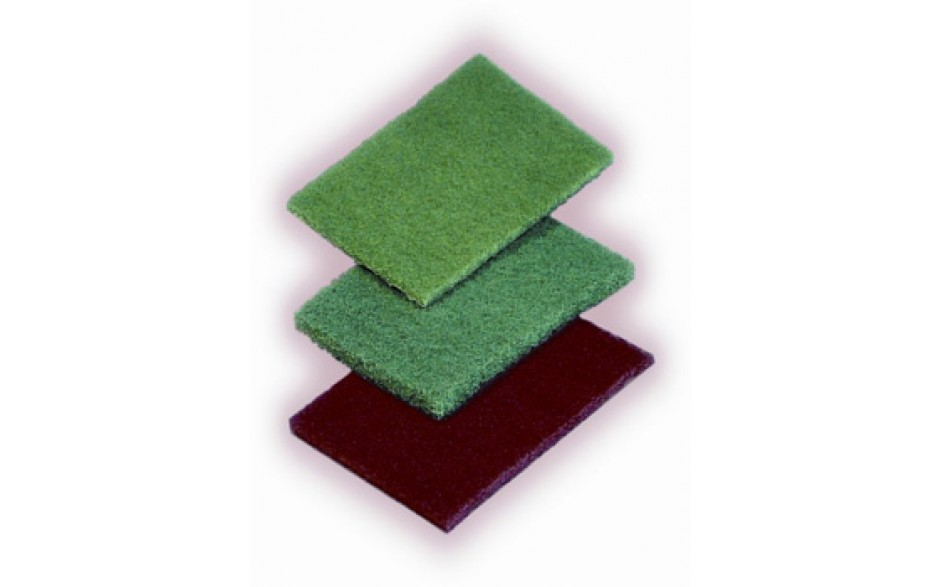 "Scouring pad, medium-duty, general purpose, Size: 6""x9"", Color: green, 60/cs"