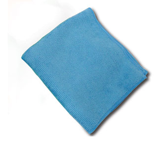 "Microfiber Cloth, Color: Blue, Size: 16""x16"", 12/cs"
