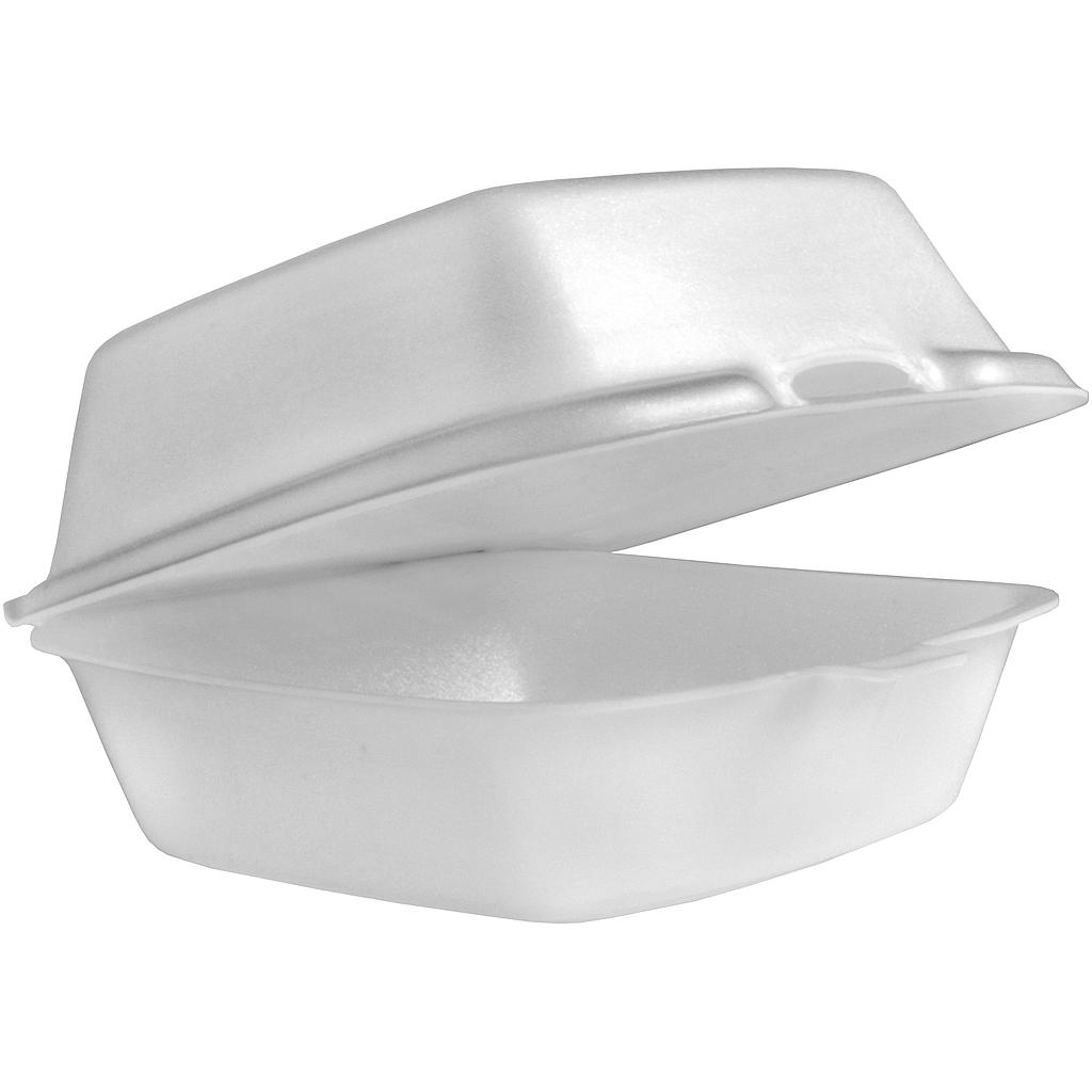 "Take-Out Container, 6""x6""x3"", Foam, White, 500/cs"
