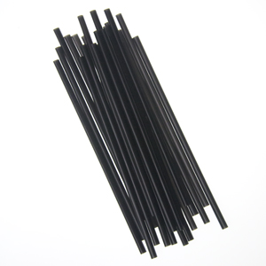 "*DELIVERY MINIMUMS APPLY* Semi Slim Straw/Stirrer, Unwrapped, Size: 7.75"", Color: Black, 5000/cs *CONTACT US FOR DETAILS OR SEE ITEM 005032-03*"