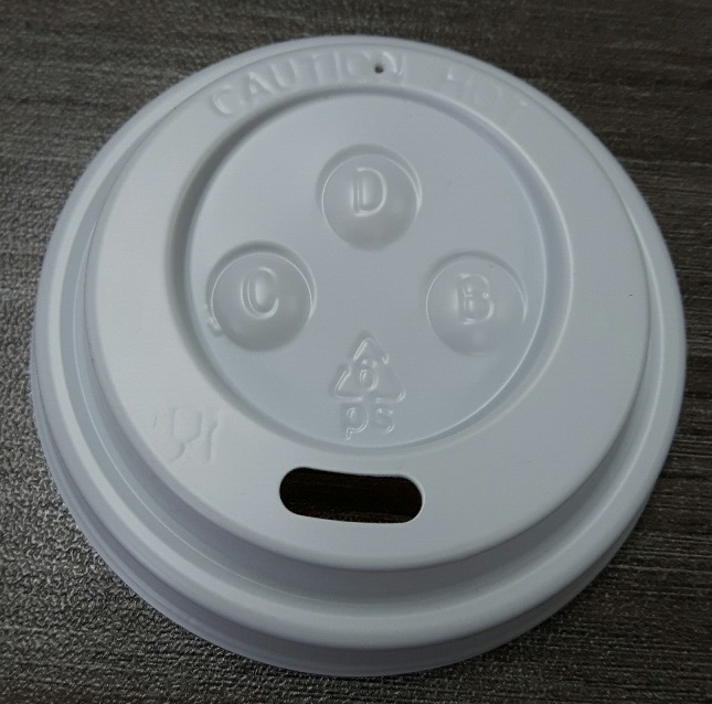 Hot cup dome lid for 4 oz cups, Color: White, Diameter: 62mm, 1000/cs