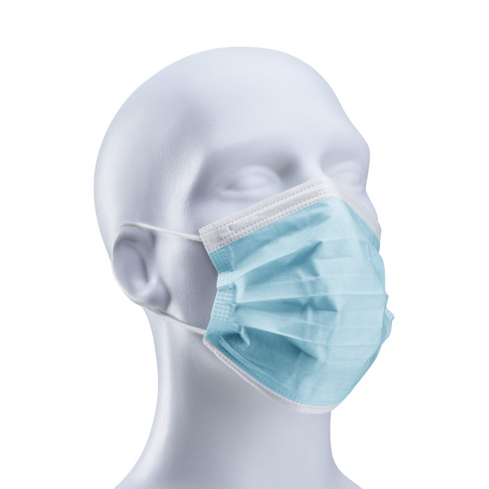 3-Ply Face Mask with Elastic Ear Loop, Sterile, Non-woven, Above 95% BFE (Bacterial Filtration Efficiency), 50 per pack