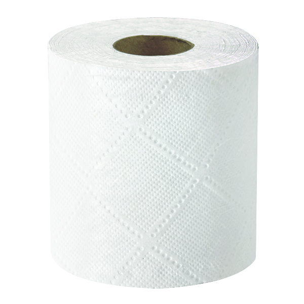 "Bathroom Tissue, 4.5""x3.75"", 500 sheets per roll, 2 ply, Made with 100% Recycled Fibers, White, 96 rolls/cs, Made in USA, 37 lb"