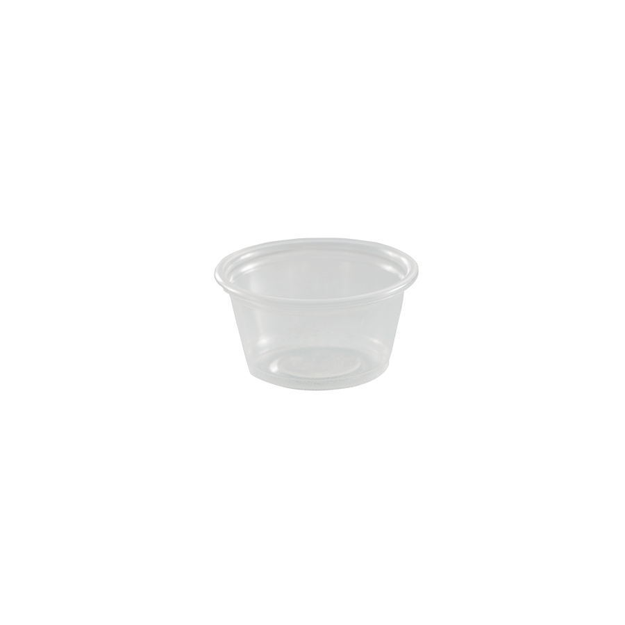 0.75 oz portion cup, plastic, Color: translucent, 2500/cs