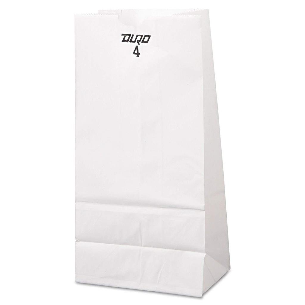 "4# Standard 30# Basis SOS Bag White, 5"" X 3.13"" X 9.75"" 500 / cs"