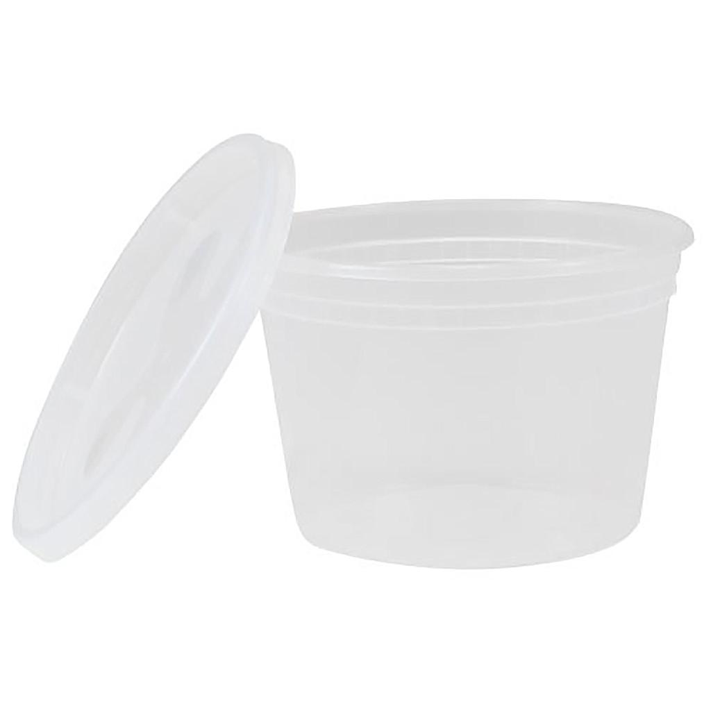 Deli container, Capacity: 16 oz, Color: clear, Suitable for hot foods, 240/cs