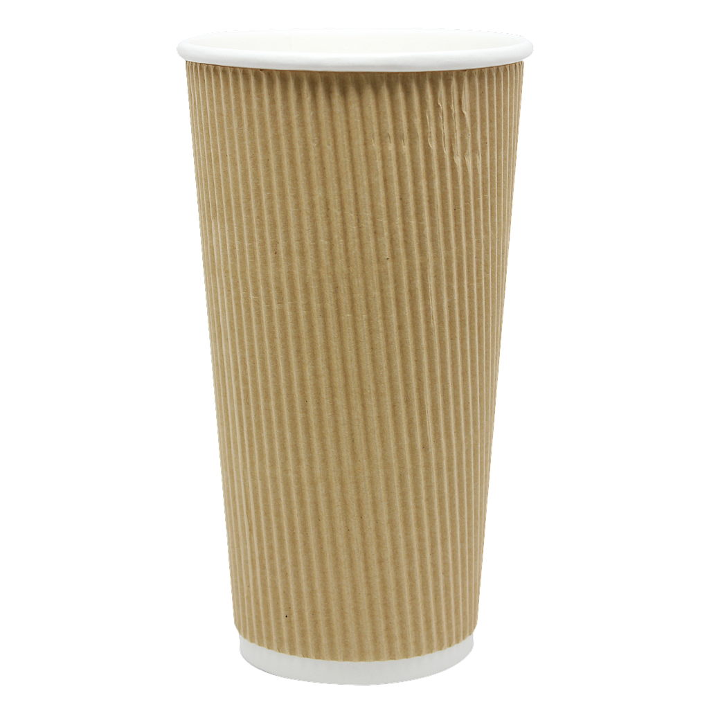 20 oz ripple hot cup, Color: Kraft, 500/cs