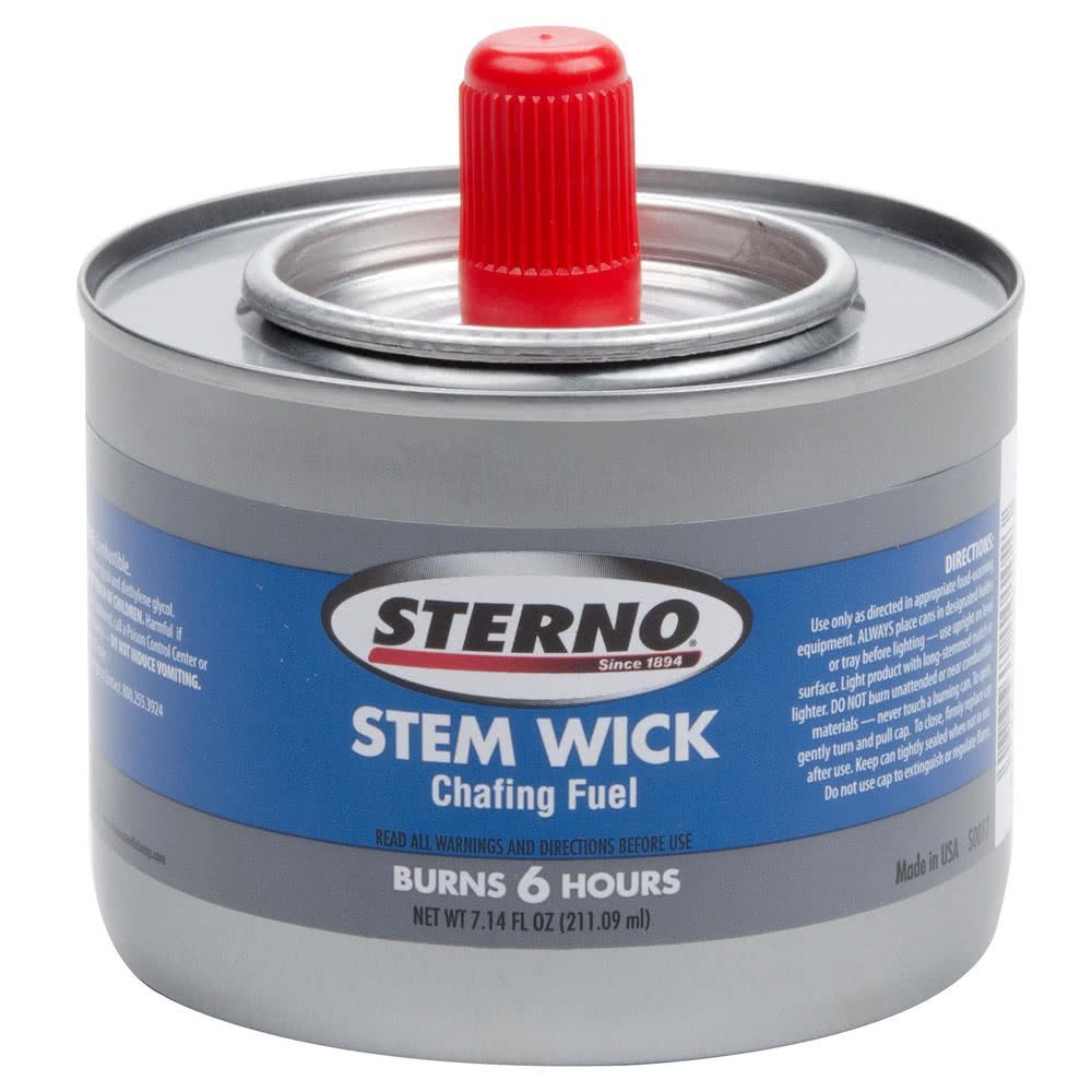 Stem Wick Chafing Fuel, Each burns approximately 6 hours, 24/cs