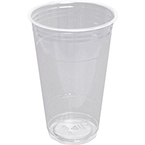 24 oz PLA cold cup, Compostable, Color: Clear, 600/cs