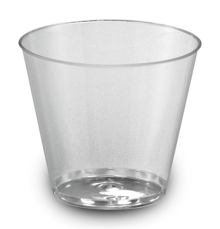 5 oz Crystal plastic tumbler cup, Color: clear, 500/cs