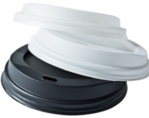 Hot cup dome lid, Color: Black, Diameter: 90mm, 1000/cs