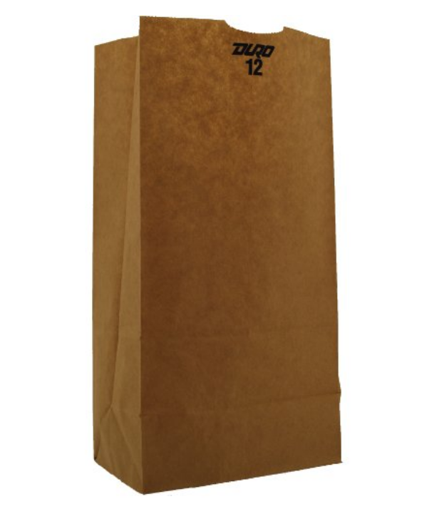 12# Grocery Paper Bag, Size: 7.06x4.5x13.75, Color: Natural, 500/cs
