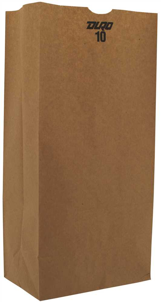 10# Grocery Paper Bag, Size: 6.30x4.18x13.40, Color: Natural, 500/cs