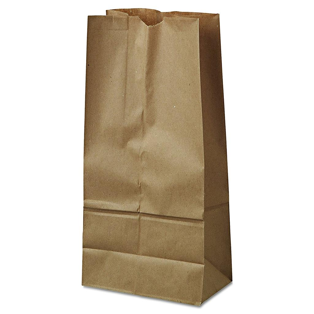 16# Grocery Paper Bag, Size: 7.75x4.80x16, Color: Natural, 500/cs