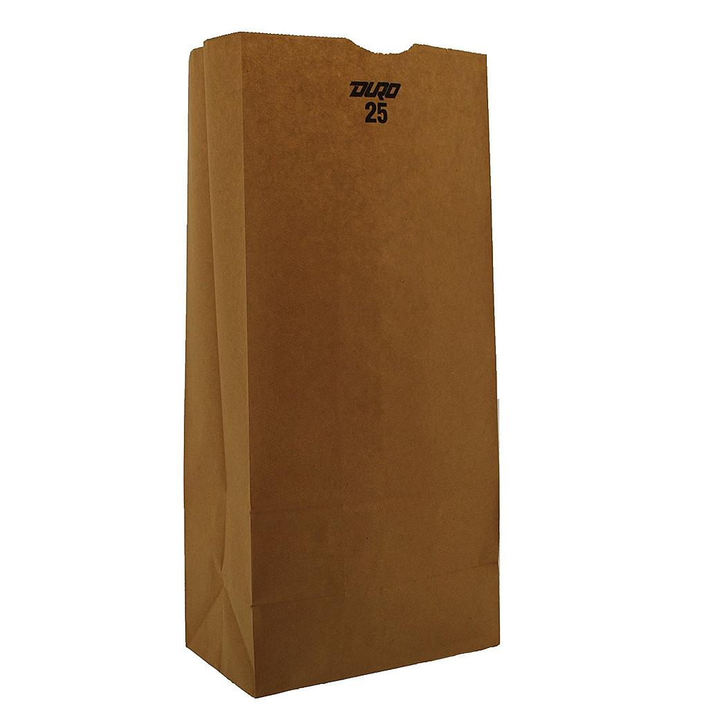 25# Grocery Paper Bag, Size: 8.25x5.25x18, Color: Natural, 500/cs
