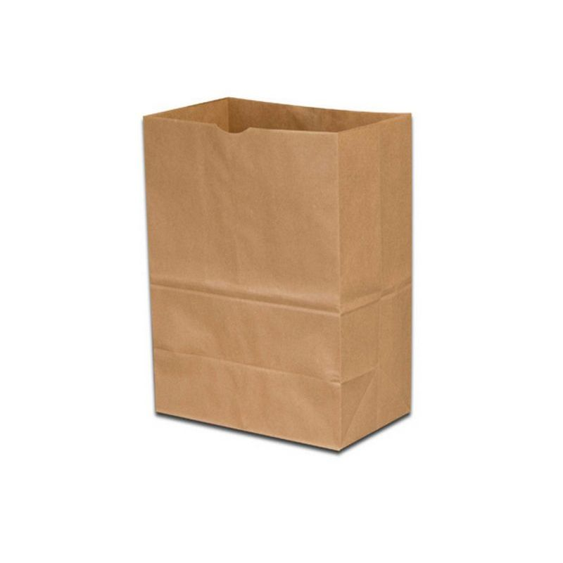 "1/6 57# Grocery Sack Paper Bag, Size: 12""x7""x17"", Color: Natural, 500/cs"