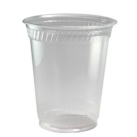 12 oz (14 oz flush fill) PLA cold cup, Compostable, Color: Clear, 1000/cs