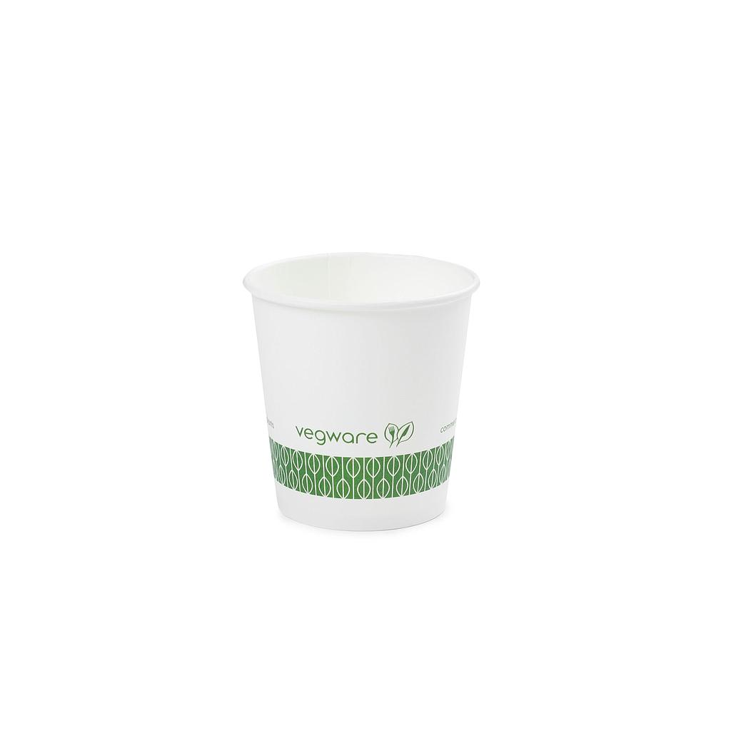 4 oz Hot Cup, Material: PLA lined paper, Color: White, Compostable, 1000/cs
