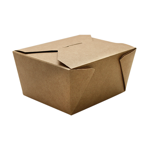 "Fold-To-Go container #1, Size: 4.3""x3.5""x2.4"", Color: Natural, Capacity: 30 fl oz., 450/cs"