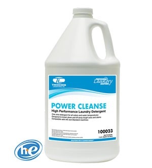 Liquid laundry detergent, Auburn PRO Line POWER CLEANSE, For use with front-loading & top-loading washers, 4x1 gallon/cs
