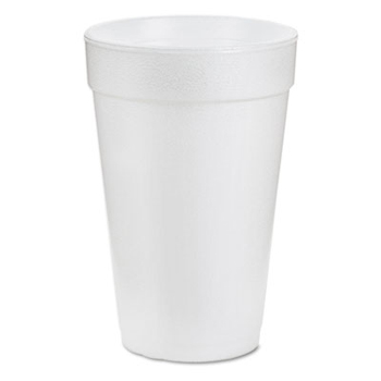 16 oz hot cup, Color: White, Material: Foam, 1000/cs