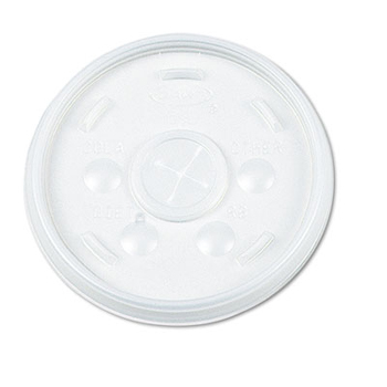 Flat lid with straw slot, Color: translucent, Material: plastic, 1000/cs