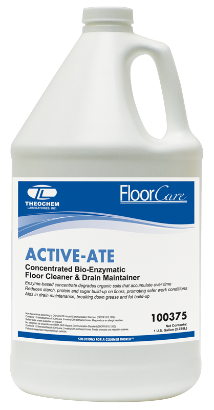 Bio-Enzymatic Floor Cleaner, Auburn PRO Line, ACTIVE-ATE, concentrated, 1 gallon bottle; 4 bottles/cs