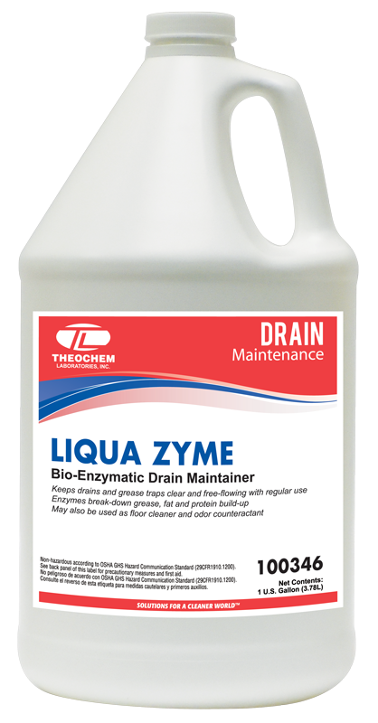 Bio-Enzymatic Drain Maintainer, Auburn PRO Line, MOLDSTAT LIQUA-ZYME, biodegradable, 1 gallon bottle, 4 bottles/cs