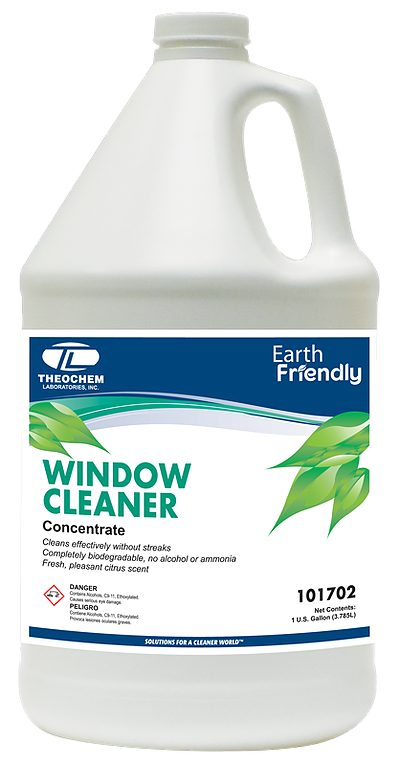 Liquid glass & surface cleaner, Auburn ECO Line WINDOW CLEANER, Concentrated, Non-Toxic, 100% Biodegradable, 4x1 gallon/cs