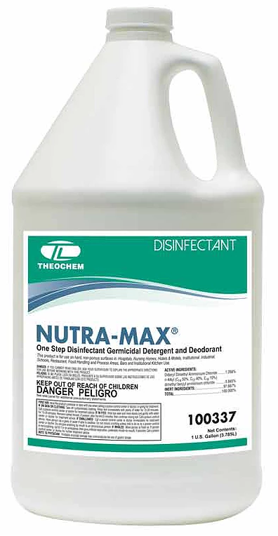 One-Step Restroom Cleaner, Disinfectant, Fungicide and Virucide, Auburn PRO Line NUTRA-MAX, Concentrated, 4x1 gallon/cs