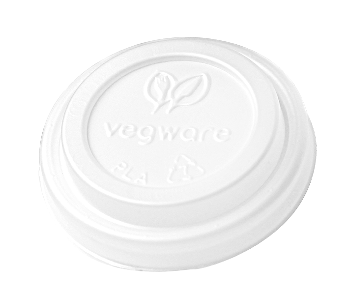 Hot Cup Dome Lid for 4 oz cups, Material: PLA, Color: White, Compostable, 2000/cs
