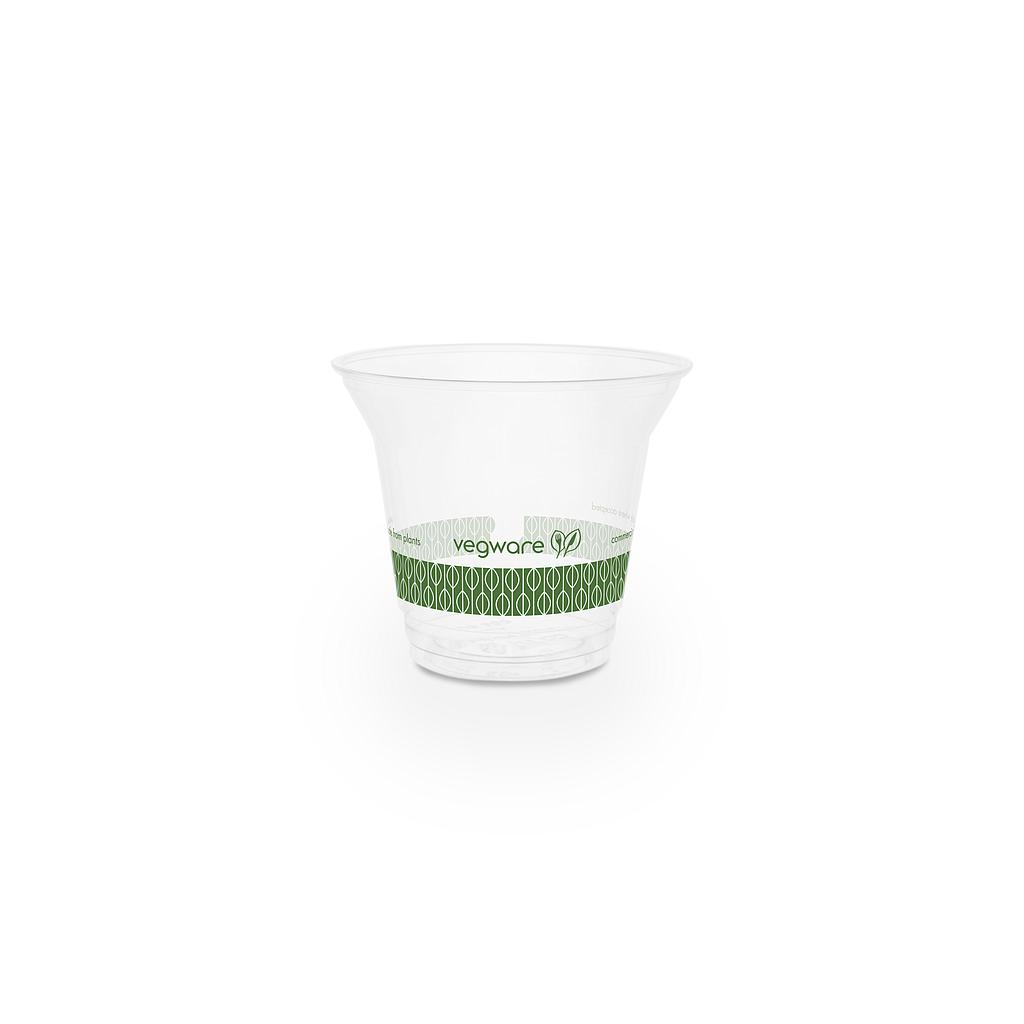 9 oz standard cold cup, Material: PLA, Color: Clear, Compostable, 1000/cs