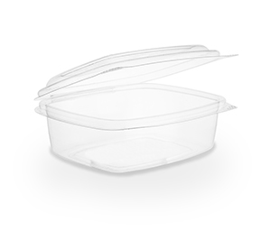 12 oz PLA Hinged Lid Deli Container, Color: Clear, Compostable, 300/cs