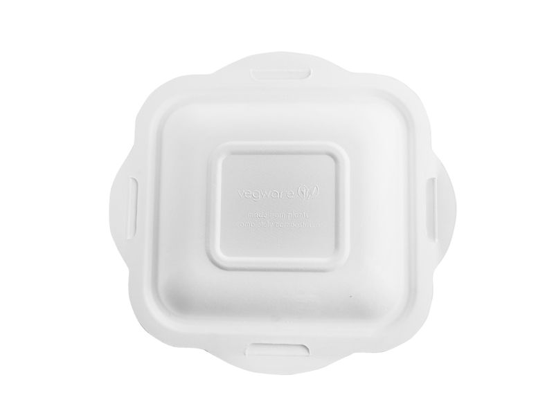 *SPECIAL ORDER ITEM* Size 4 Lid for Bagasse Gourmet base, Material: Sugarcane, Color: White, Compostable, 600/cs *SEE DETAILS BELOW*