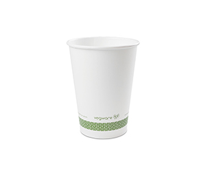 *SPECIAL ORDER ITEM* 32 oz Food Container, Material: PLA paper, Color White w/green stripe, Compostable, 500/cs *ESTIMATED DELIVERY 3 TO 4 WEEKS* (NOT RETURNABLE)