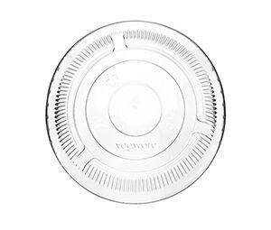 PLA flat lid, no hole, Compostable, Color: clear, 1000/cs